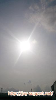 熱中症予防で遮るべき太陽の光