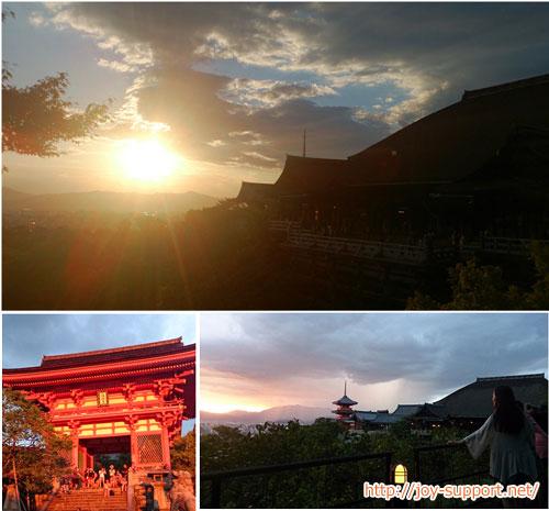 清水寺の見どころ-夕暮れ時の清水寺