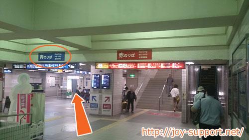 金閣寺へ向かうバス停の場所
