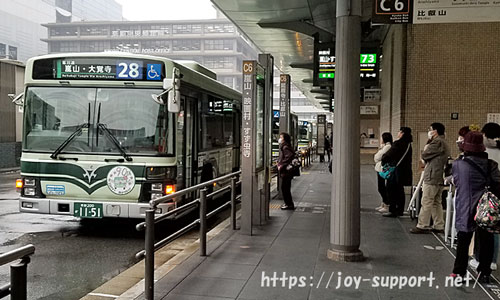 京都駅-バス停